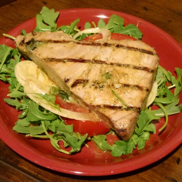 Grilled Tuna Over Arugula With Lemon Vinaigrette Recipes — Dishmaps