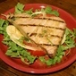 Grilled Tuna Steaks over Arugula Salad