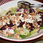 Roasted Beets, Blue Cheese and Walnut Salad over mixed greens.