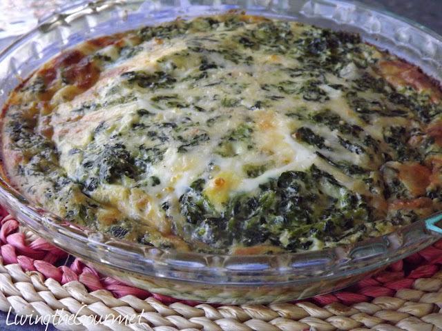 No-Crust Spinach Quiche