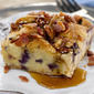 Blueberry French Toast Bread Pudding with Smoky Bacon and a giveaway