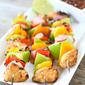 Grilled Chicken Fajita Kabobs & A Giveaway