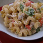 Lighter Vegetable Alfredo Pasta