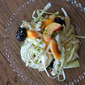 Fresh Peach and Blackberry Slaw