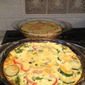 Zucchini, Red Pepper, and Spinach Quiche