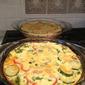 Zucchini, Red Pepper, and Spinach Quiche
