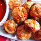 Pepperoni Pizza Puffs - Tailgaiting for #SundaySupper