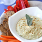 Creamy White Bean Dip Recipe with Parmesan Cheese & Sage