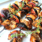 Balsamic Chicken & Fig Brochettes