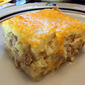 Sausage & Cheese Hash Brown Breakfast Bake