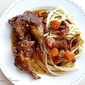 Pheasants in Wine Sauce with Bucatoni