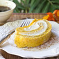 Pumpkin Roll Cake with Whipped Kahlua Cream Filling