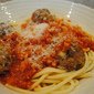 Bucatini All'Amatriciana with Spicy Smoked Mozzarella Meatballs