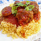 Moroccan kofte and sausage stew