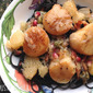 Scallops with Bacon, Grapefruit and Pomegranate over Fancy-Pants Pasta and On Quiet in the Kitchen