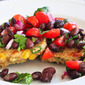 Quinoa and Corn Griddle Cakes With Black Bean Salsa