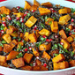 Wild Rice w/Butternut Squash and Pomegranate Seeds