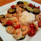 Shrimp with Zucchini and Tomatoes