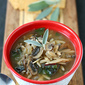 Healthy Mushroom, Orzo & Swiss Chard Soup Recipe {Vegetarian} & Marathon Update