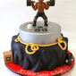 Workout Themed Birthday Cake