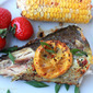 Grilled whole Mackerel with Lemon, Thyme and Red chilli flakes!