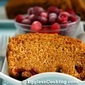 Vegan Pumpkin Cranberry Bread