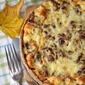 Chanterelle quiche with a wholewheat & thyme crust