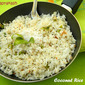 Coconut Rice (made of left over rice and without coconut milk)