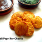 Papdi/Papri & Mint Chutney N Sweet Tamarind Chutney for Chaat