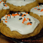 Pumpkin Cookies with Rum Flavored Icing