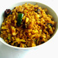 Mushroom & Red Rice Flakes Upma