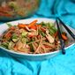 Spicy Peanut Noodles with Fresh Vegetables