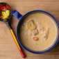 Cheesy Yellow Squash and Ham Soup