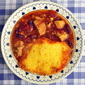 Leftover Turkey Chili Soup with Cornbread Dumplings