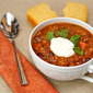 Crockpot turkey chili with butternut squash & apples ... and best-evah cornbread!
