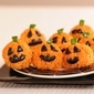Healthy Halloween Carrot Rice Ball Jack O' Lantern Bites Recipe