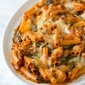 Easy Baked Ziti Recipe with Spinach and Artichokes