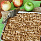 Apple Cake Bars with Caramel Glaze