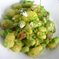 Gnocchi with Broad Beans Bacon and Pea Pesto