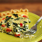Kale and feta quiche recipe