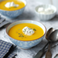 Simple Winter Soup- Butternut Squash, Yam, Carrot & Garlic