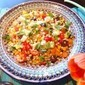 Healthy Mediterranean-Fusion Cooking: Israeli Couscous Salad with a Balsamic Vinaigrette