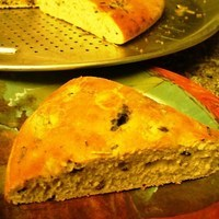 Focaccia with Olives and Rosemary (Bread Machine or Conventional Method)
