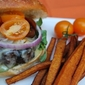 Guinness Burgers with Butternut Squash Fries