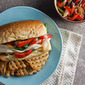 Chicken Philly Sandwiches with Provolone Sauce