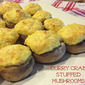 Curry Crab Stuffed Mushrooms