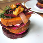 Beet & Sweet Potato Stacks