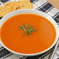 Red pepper pumpkin soup