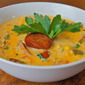 Low Fat Spicy Sausage Corn Chowder