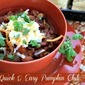 30 Minute Meal: Quick & Easy Pumpkin Chili